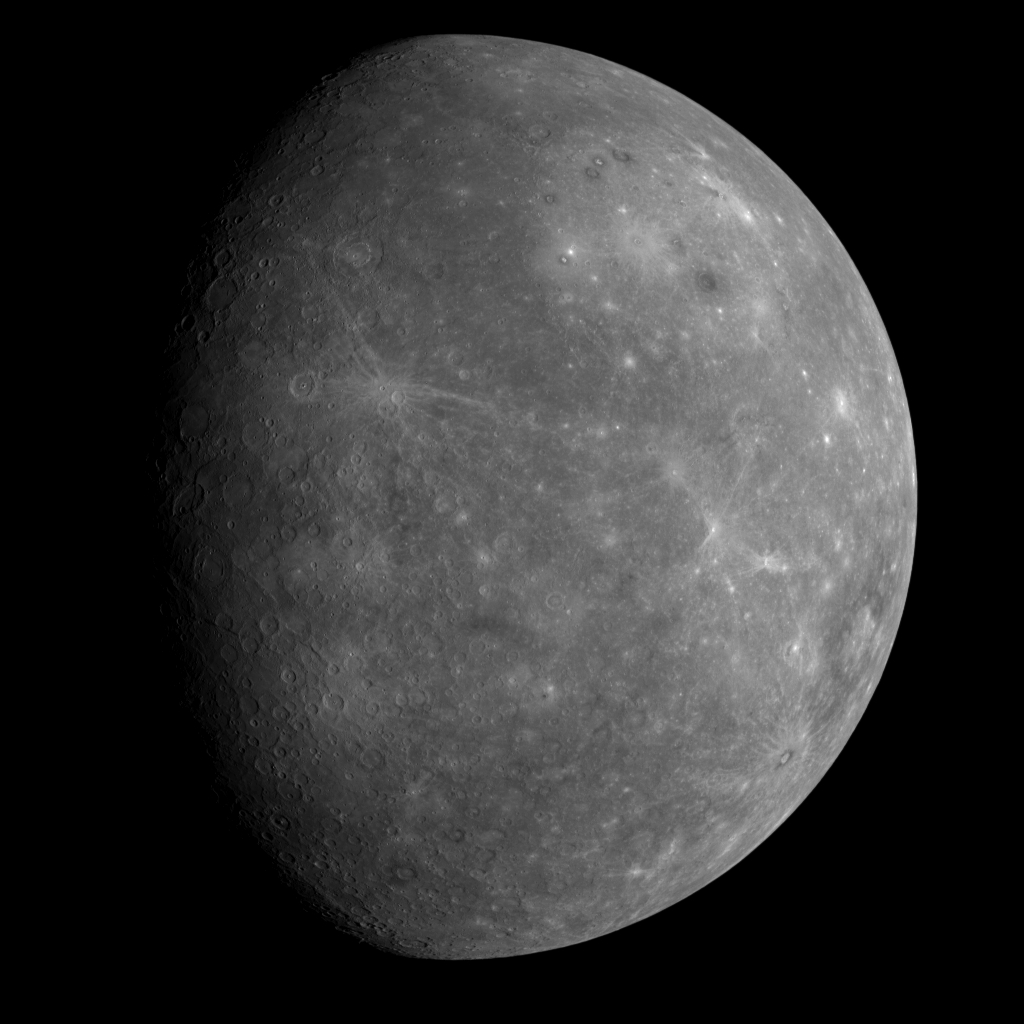 First Image of Mercury from Messenger